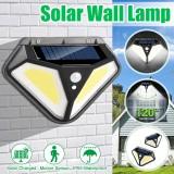 50COB/102LED Solar Wall Light PIR Motion Sensor Lamp Three Modes Outdoor IP65 Waterproof Garden Yard Street Lighting
