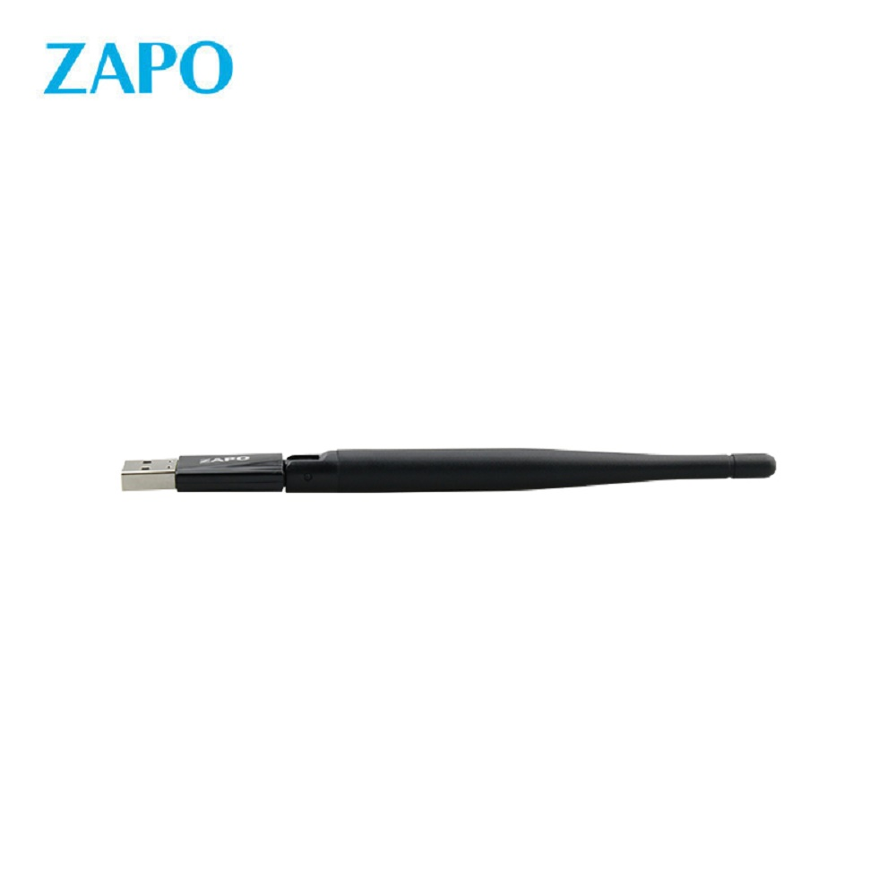 ZAPO W69L 600Mbps bluetooth Audio Transmitter No Drive File 2.4G & 5G Wifi USB Adapter Wireless High Gain Antennas Network Card for All Windows Linux