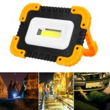 XANES 25C 40W LED COB USB Rechargeable Strong Floodlight Emergency Power Bank Waterproof Work Light For Outdoor Camping Hiking Fishing Emergency Car Repairing