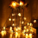 Tvird String Lights-33Ft Waterproof Hanging Light with 50 Led Transparent Globes-Outdoor/Indoor Lights String of 8 Modes with Adapter Integrated Button Controller for Patio Party Home Wedding Decor