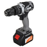 21V 2-Speed Power Drill Nanwei Lithium-Ion Battery Screwdriver Electric Cordless Impact Drill Tool Power Machine
