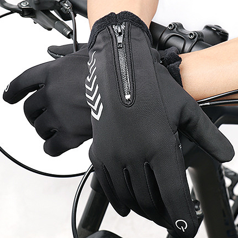 WHEEL UP Cycling Gloves Winter Warm Up Water Resistant Windproof Touch Screen Gloves Non-Slip Thermal Gloves