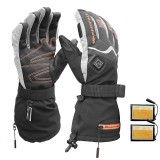 WARMSPACE Smart Electric Heated Gloves Touch Screen Ski Gloves Battery Powered Self Heating Waterproof Motorcycle Racing Riding Guantes