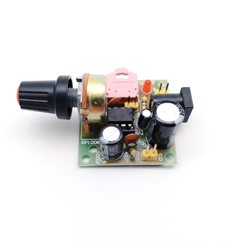 LM386 Power Amplifier Board Audio Amplifier DIY Electronic Production Kit Training Materials Package