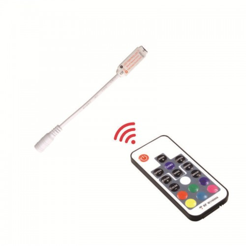 DC 12V Mini RGB RF Remote USB 24 Key Wireless LED Controller For RGB LED Strip Light Remote Controller Dimmer