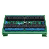 24V 32 Channel RS485 Modbus RTU Relay Module with DIN35 Rail Box MODBUS RTU Command