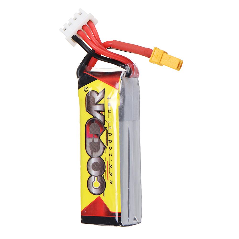 CODDAR 11.4V 300mAh 3S 90C High Discharge HV Lipo Battery XT30 Plug for Toothpick Whoop