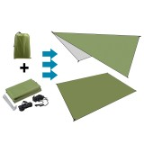 210D Oxford Fabric Army Green Moisture-proof Tent Shelter Folding Awning Tarp Hammock Rain Sunshade Picnic Mat Outdoor Camping Trave