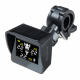 Solar Waterproof TPMS Tricycle Motorcycle Real Time Tire Pressure Monitoring System Wireless LCD Display External/Internal Sensors