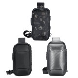 USB Charging Large Capacity Waterproof Anti-Scratch Anti-Theft Macbook Storage Backpack Shoulder Crossbody Bag Chest Bag