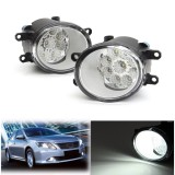 9 LED Front Fog Light Driving Lamp with Bulbs 6000K White For Toyota Corolla Camry Highlander Avalon For Lexus