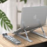 BONERUY P2 Universal Foldable 5-Gear Height Adjustable Heat Dissipation Aluminium Alloy Macbook Laptop Desktop Stand Holder for 13-17.3 inch Devices