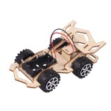 Huasu HS-112 Handmade DIY Toys Wood Electric Car Plane Ship Helicopter Toys STEAM Development Puzzles For Children