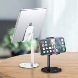 [Upgrade Version] TOPK D02 Telescopic Desktop Mobile Phone Tablet Holder Stand for iPad Air for iPhone 12 XS 11 Pro POCO X3 NFC Xiaomi Mi10