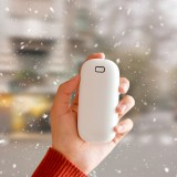 Portable Mini 2 in 1 Hand Warmer Power Bank 2 Gear 4000mAh Long Battery Life USB Charging Double-sided Heating Electric Warming Treasure