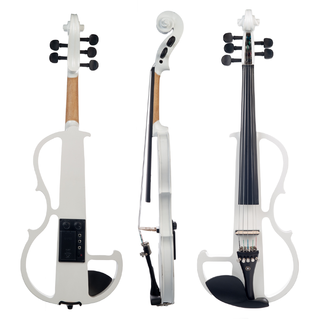 NAOMI 4/4 Full Size Electric Violin Fiddle 5 String Silent Violin Accessories