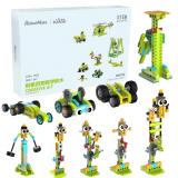 RobotMake Tudao Creative Variety Children's Puzzle Building Blocks Intelligent Robot Assembling Machinery Master Building Block Toys