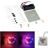 LED Heart-shaped Flashing Light Kit Electronic DIY Parts Welding Electronic Training