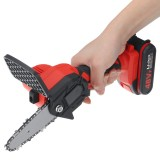 48V Rechargeable Electric Chain Saw Portable Woodworking Saw Cordless Wood Cutter W/ 1pc/2pcs Battery