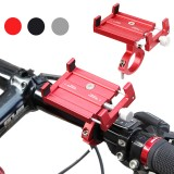 PK01 Adjustable Bicycle Phone Holder GPS Bracket MTB Mountain Bike Handlebar Anti-Slip Stand for 3.5″ to 6.2″ Phones