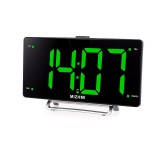 3 Inch LED Electronic Alarm Clock Radio Wall Clock Double Alarm Clock USB Charge Screen Digital Office Home Bedroom Decorations