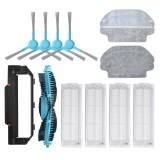 14pcs Replacements for Xiaomi Mijia STYJ02YM Viomi Vacuum Cleaner Parts Accessories Main Brush*1 Side Brushes*4 Main Brush Cover*1 Mop Clothes*4 HEPA Filter*4