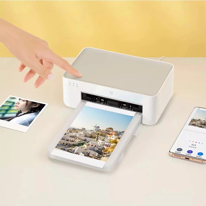 XIAOMI Mijia Photo Printer 1S Automatic Laminating Portable Smart APP Remote Photo Paper Printer with 3-inch Adhesive Photo Paper