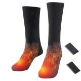 3V Cotton Heated Socks Sport Ski Socks Winter Foot Warmer Electric Warming Sock Battery Powered Warming Socks