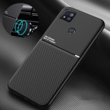 Bakeey for Xiaomi Redmi 9C Case Magnetic Texture Non-slip Leather TPU Shockproof Protective Case  