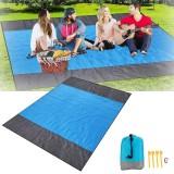 200x210cm Free Sand Beach Blanket Folding Lightweight Picnic Mat Waterproof Beach Mat for Camping Travel