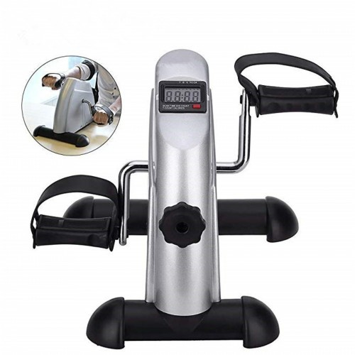 LCD Display Portable Pedal Bike Hands And Feet Trainer Mini Pedal Exercise Bike For Home Fitness Body Shaping