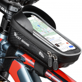 WEST BIKING 6inch Bicycle Front Frame Bag Waterproof Bike Phone Mount Bag Touch Screen Sun Visor Top Tube Handlebar Bag