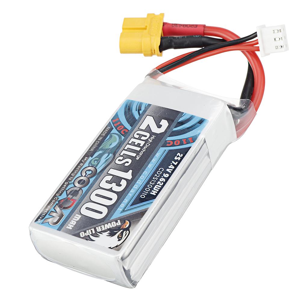 CODDAR 7.4V 1300mAh 2S 110C Lipo Battery XT30/XT60 Plug Optional for RC Drone