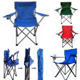 Portable Outdoor Folding Chair Beach Rack Chair Seat With Cup Holder for Garden Beach Camping