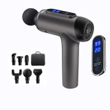 LCD Display Deep Tissue Massager 20 Speed 6 Modes Rechargeable Deep Muscle Massager Handheld Percussion Physiotherapy