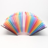 A4 24 Pockets Expanding Folder Accordion Multicolour Stand Expandable Portable Accordion File Business Office Stationery Supplies