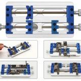 KGX Pcb Fixture Holder Aluminum alloy Fixed Base 2+1 Rotation Axiis For Precisiion Circuit Board Motherboard Soldering Repair Tools
