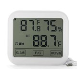 OW-E36 New Large-screen Touch Screen Temperature and Humidity Meter Indoor Electronic Thermometer Hygrometer Clock MAX/MIN Memory