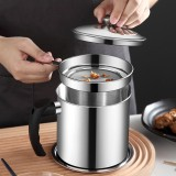 1.3L 304 Stainless Steel Oil Strainer Filter Pot Cooking Oil Pot Container Jug Storage Filter Can for Kitchen Household Tools