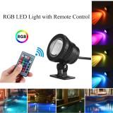 20W RGB LED Light Fountain Pool Pond Spotlight Underwater Waterproof + Remote
