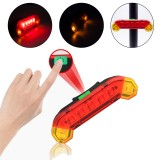 XANES 4-Modes 7 LED 400 Lumens Bicycle Rear Light USB Rechargeable Waterproof Cycling Tail Light For MTB Road Bike