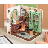 Robotime DGM07 DIY Doll House Handmade Wooden Assembly Model Jimmy Studio Theme Doll House With Furniture