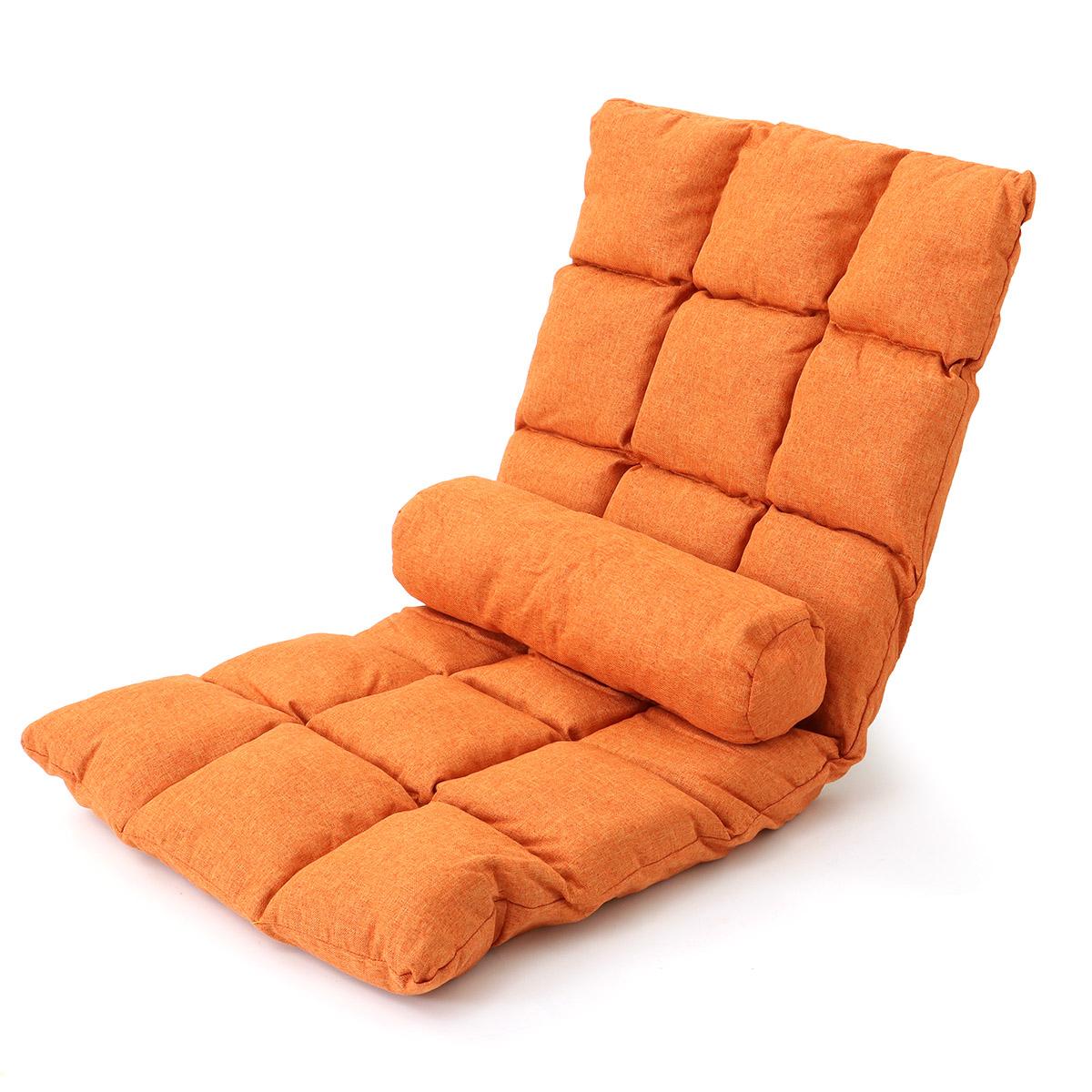 Adjustable 14-Position Floor Chair Cushion Folding Lazy Gaming Sofa Chair Pillow Cushion Home Office Small Sofa