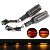 2pcs 12V Motorcycle LED Turn Signal Flowing Water DRL Lights Blinker Flashing
