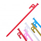 1 Pcs Colorful Steel Tent Nails 20cm Outdoor Traveling Camping Hiking High-Strength Tent Pegs Tents Accessories