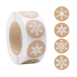 500pcs Snowflake Paper Stickers Label Christmas Gift Decoration Gift Box Seal Envelope Label Package Seal Paper Stickers