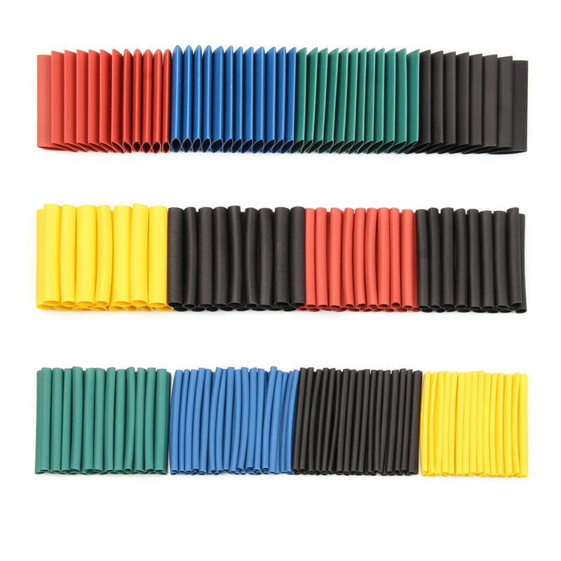 530Pcs Heat Shrink Tubing Insulation Shrinkable Tubes Assortment Electronic Polyolefin Wire Cable Sleeve Kit Heat Shrink