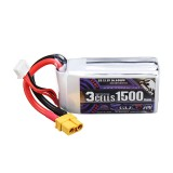 CODDAR 11.1V 1500mAh 110C 3S XT60 Plug High Discharge Lipo Battery for RC Drone