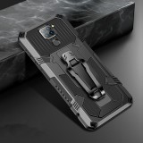 Bakeey for Xiaomi Redmi Note 9 / Redmi 10X 4G Case Dual-Layer Rugged Armor Magnetic with Belt Clip Stand Non-Slip Anti-Fingerprint Shockproof Protective Case