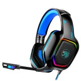 Bakeey A30 3.5mm Wired Gaming Headset Surround Sound Bass Gaming Headphones Noise Reduction LED Light Stereo Over-Ear Headphones With Microphone